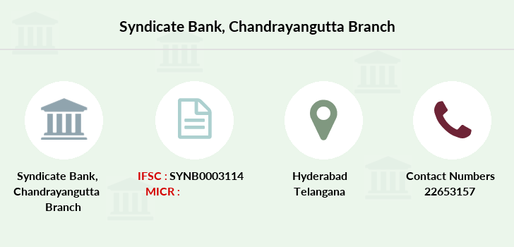 Syndicate-bank Chandrayangutta branch