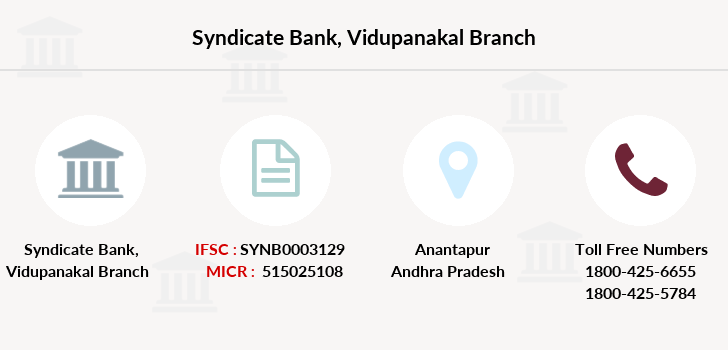 Syndicate-bank Vidupanakal branch