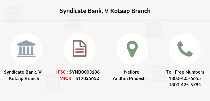 Syndicate-bank V-kotaap branch