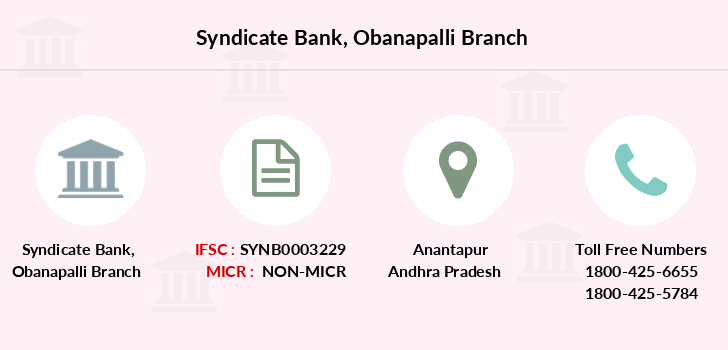 Syndicate-bank Obanapalli branch