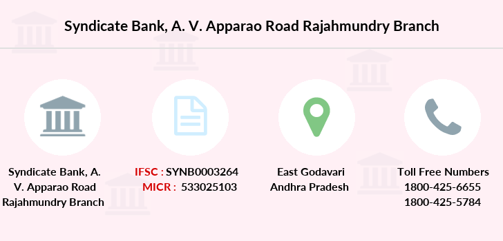 Syndicate-bank A-v-apparao-road-rajahmundry branch