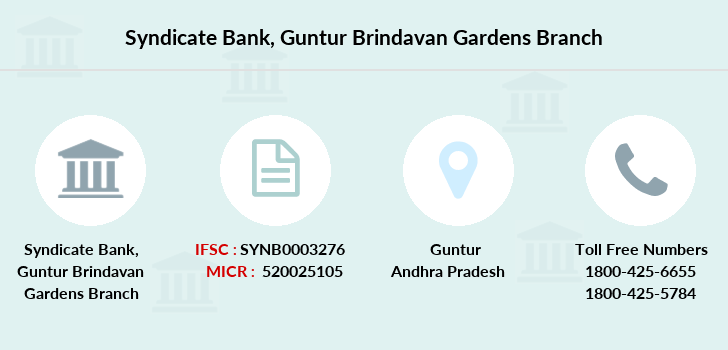 Syndicate-bank Guntur-brindavan-gardens branch