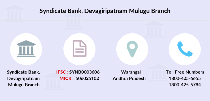 Syndicate-bank Devagiripatnam-mulugu branch