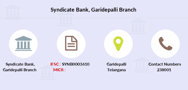 Syndicate-bank Garidepalli branch