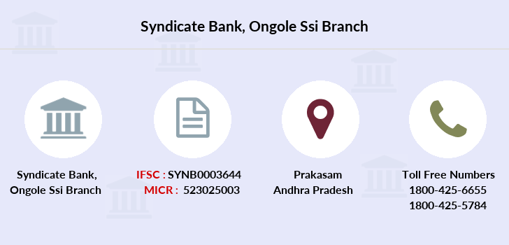 Syndicate-bank Ongole-ssi branch