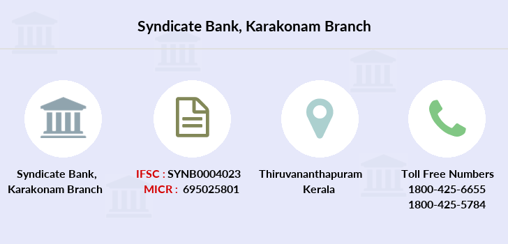 Syndicate-bank Karakonam branch