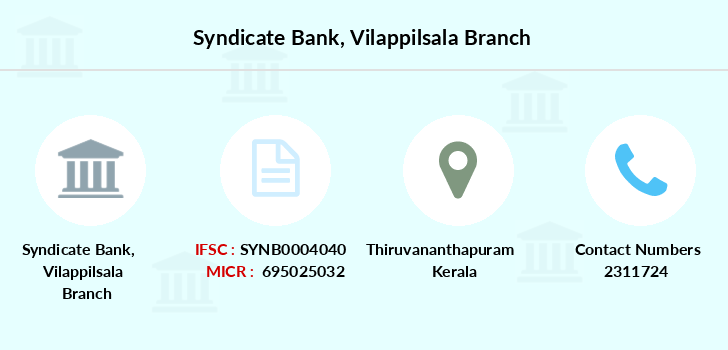 Syndicate-bank Vilappilsala branch