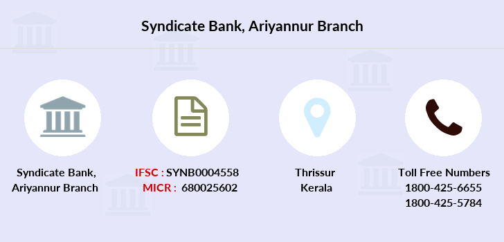 Syndicate-bank Ariyannur branch