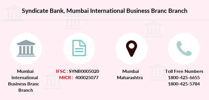 Syndicate-bank Mumbai-international-business-branc branch