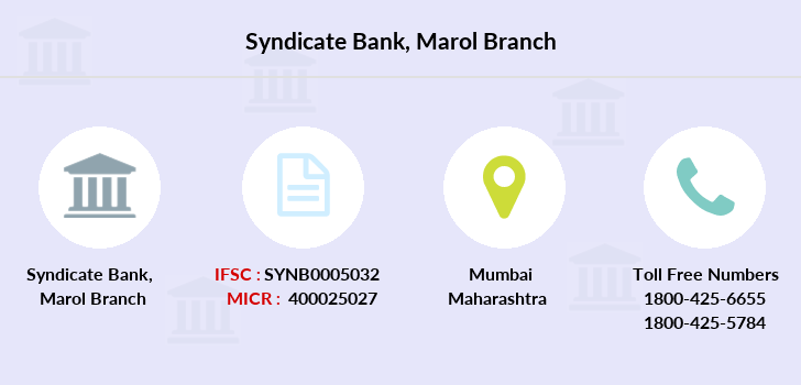 Syndicate-bank Marol branch