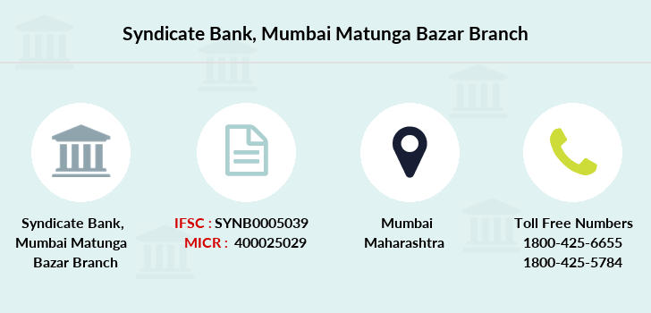 Syndicate-bank Mumbai-matunga-bazar branch