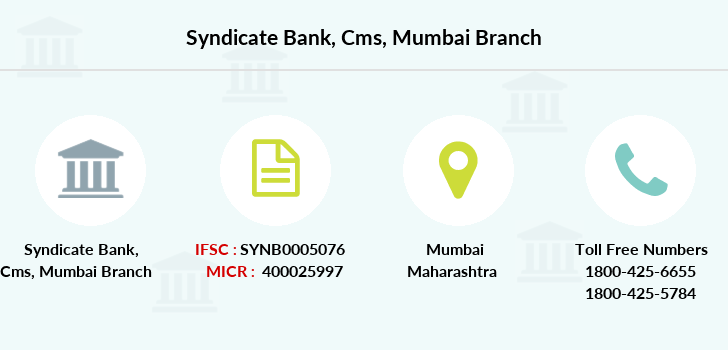 Syndicate-bank Cms-mumbai branch