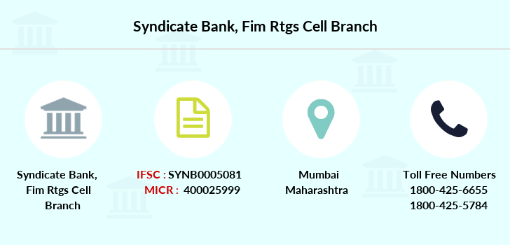 Syndicate-bank Fim-rtgs-cell branch