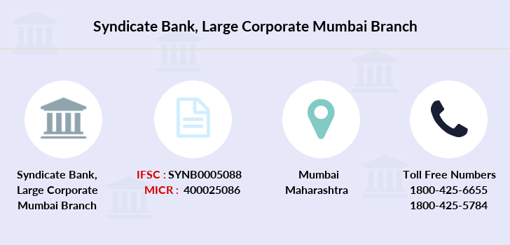 Syndicate-bank Large-corporate-mumbai branch