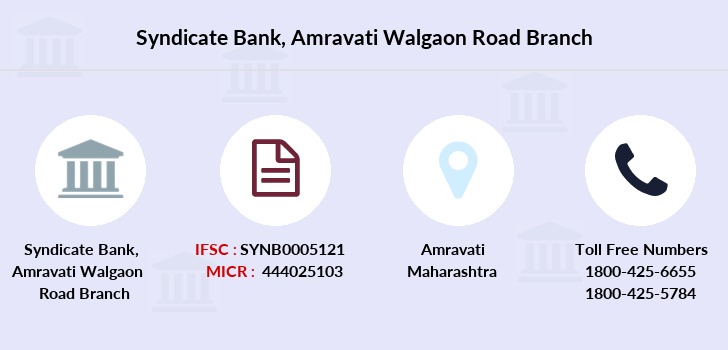 Syndicate-bank Amravati-walgaon-road branch