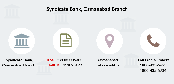 Syndicate-bank Osmanabad branch