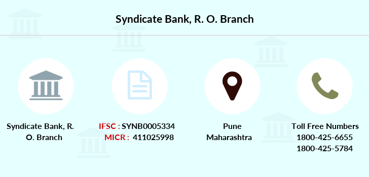 Syndicate-bank R-o branch