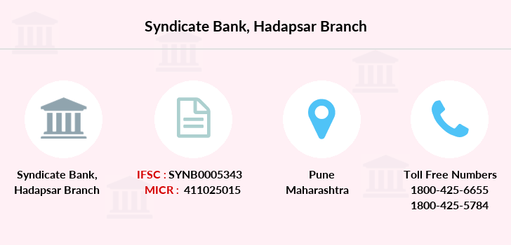 Syndicate-bank Hadapsar branch
