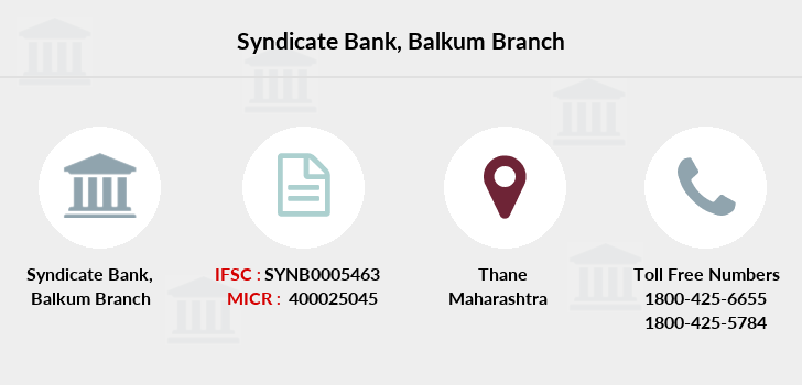 Syndicate-bank Balkum branch