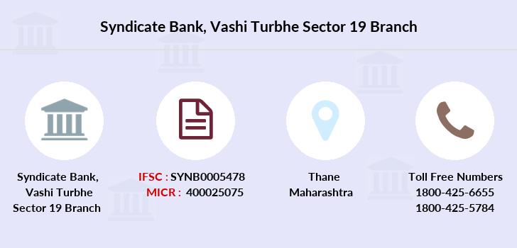 Syndicate-bank Vashi-turbhe-sector-19 branch