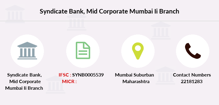 Syndicate-bank Mid-corporate-mumbai-ii branch