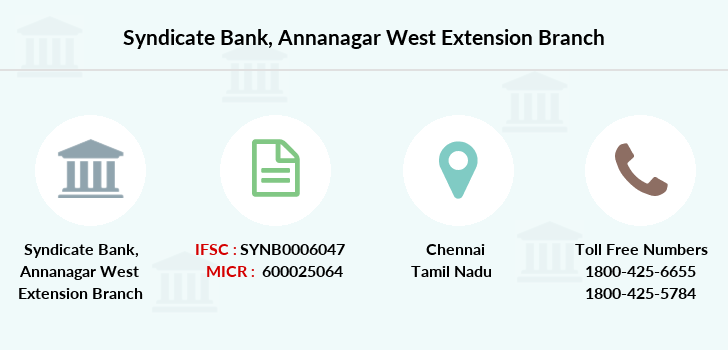 Syndicate-bank Annanagar-west-extension branch