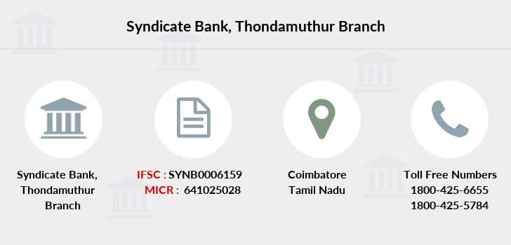 Syndicate-bank Thondamuthur branch