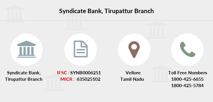 Syndicate-bank Tirupattur branch