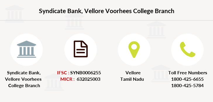 Syndicate-bank Vellore-voorhees-college branch
