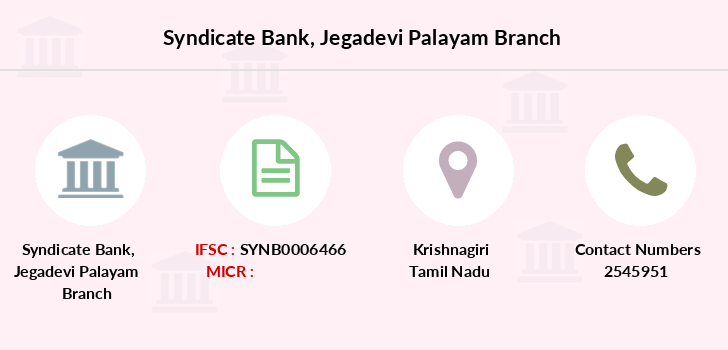 Syndicate-bank Jegadevi-palayam branch