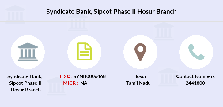 Syndicate-bank Sipcot-phase-ii-hosur branch