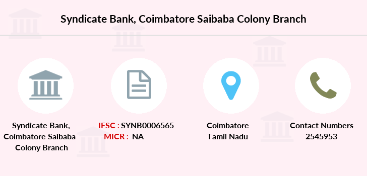 Syndicate-bank Coimbatore-saibaba-colony branch