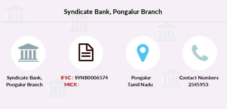 Syndicate-bank Pongalur branch