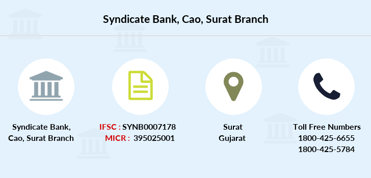 Syndicate-bank Cao-surat branch