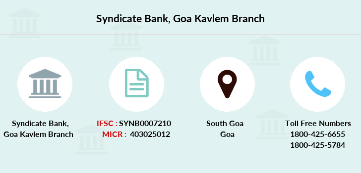 Syndicate-bank Goa-kavlem branch