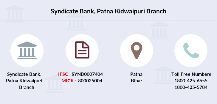 Syndicate-bank Patna-kidwaipuri branch