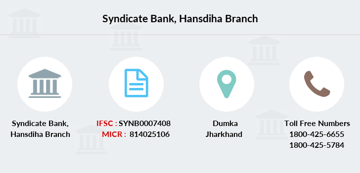 Syndicate-bank Hansdiha branch