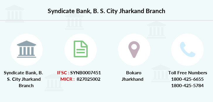 Syndicate-bank B-s-city-jharkand branch