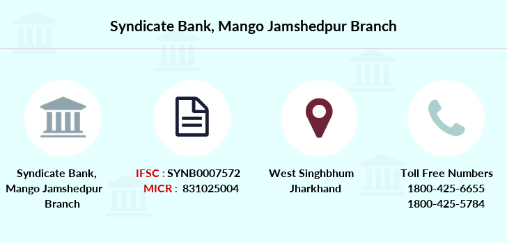 Syndicate-bank Mango-jamshedpur branch