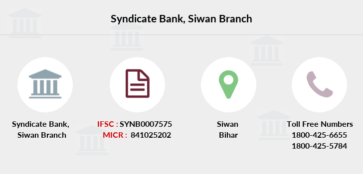 Syndicate-bank Siwan branch