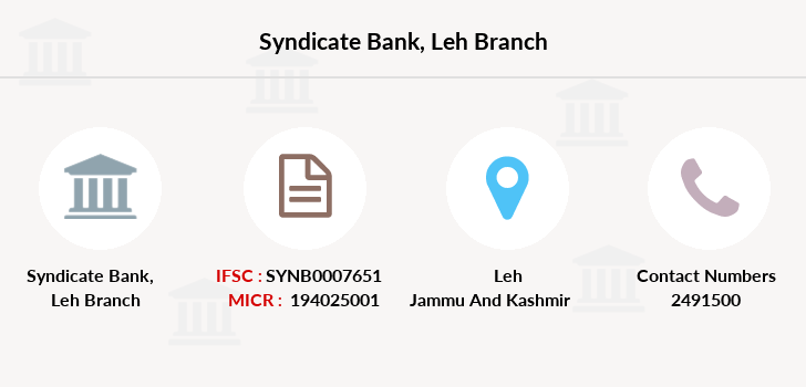 Syndicate-bank Leh branch