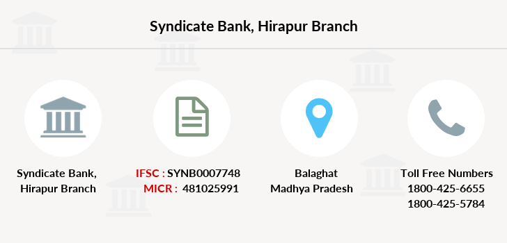 Syndicate-bank Hirapur branch