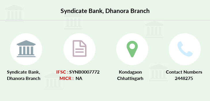 Syndicate-bank Dhanora branch