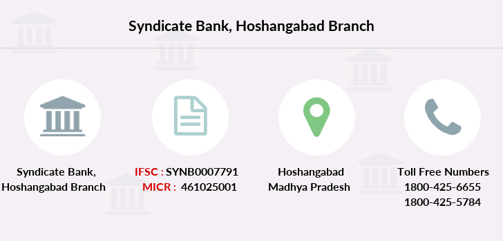 Syndicate-bank Hoshangabad branch