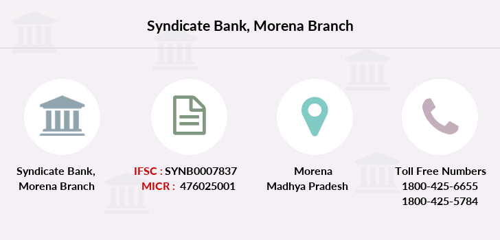 Syndicate-bank Morena branch