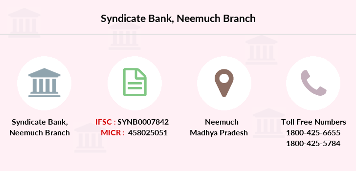 Syndicate-bank Neemuch branch