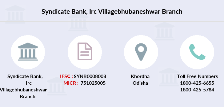 Syndicate-bank Irc-villagebhubaneshwar branch