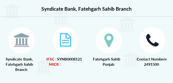 Syndicate-bank Fatehgarh-sahib branch