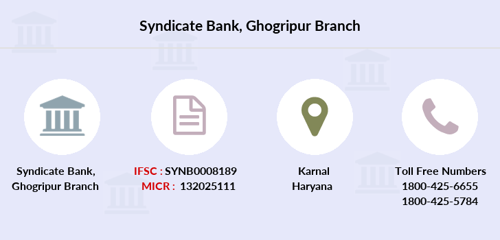 Syndicate-bank Ghogripur branch