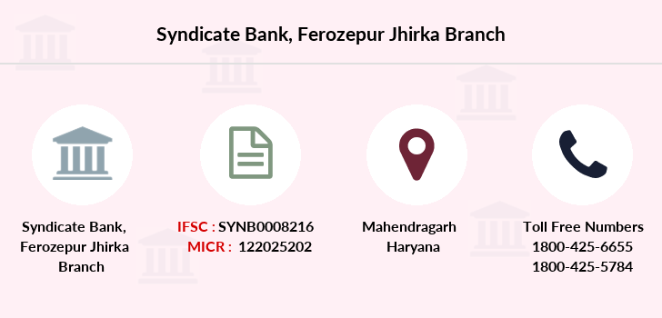 Syndicate-bank Ferozepur-jhirka branch